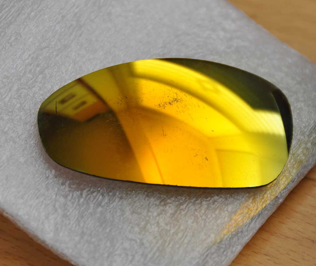 oakley lenses are scratched
