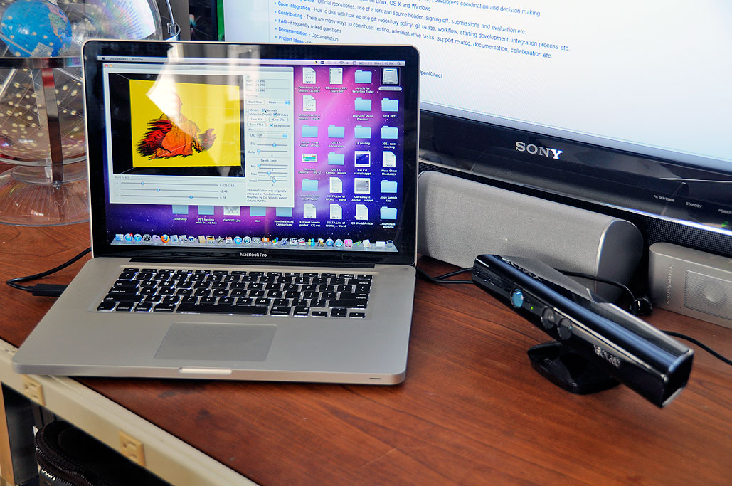 how to connect kinect to mac