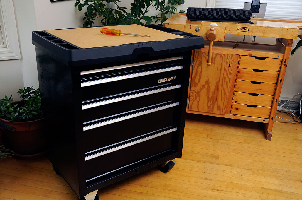 RainyDayRenovations Craftsman 5 Drawer Powered Project Center by
