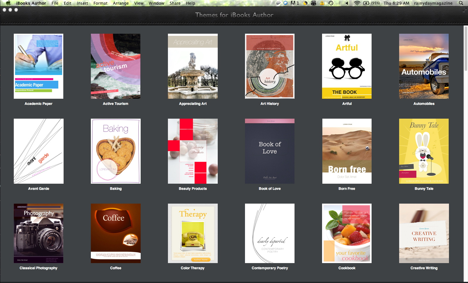 more ibooks templates