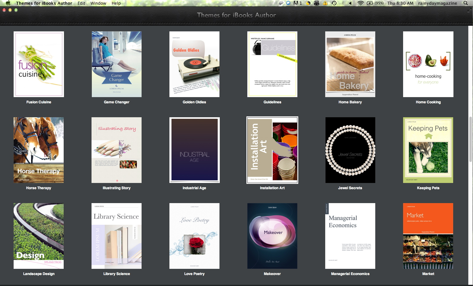 More iBooks Templates | RainyDayMagazine
