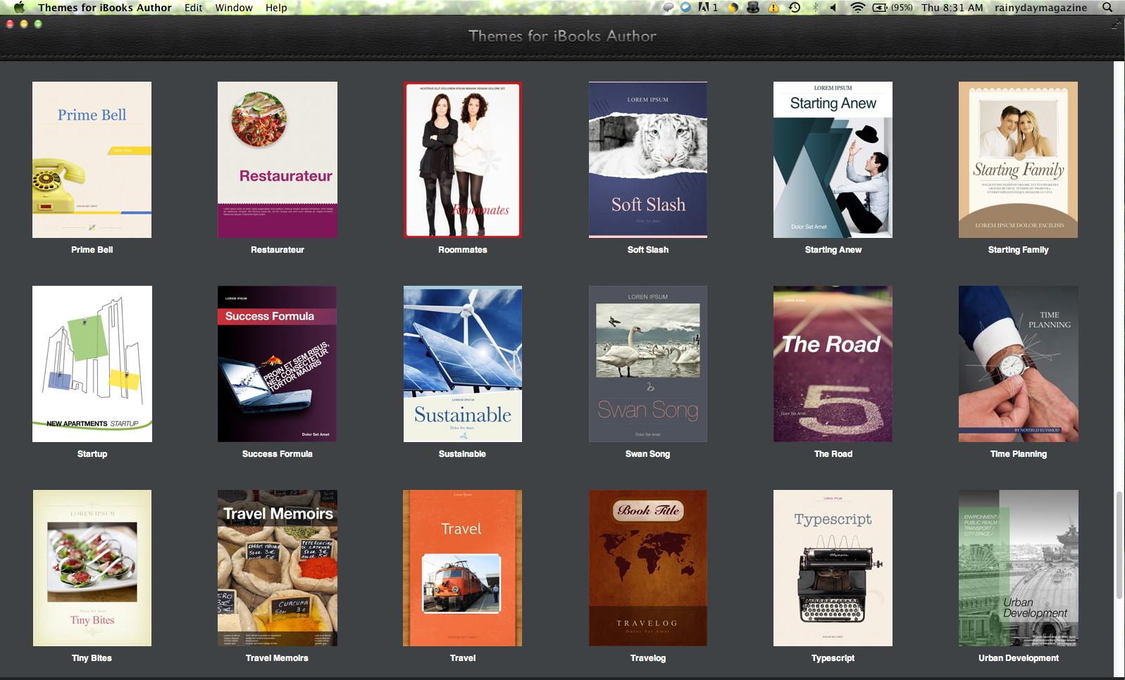 More iBooks Templates | RainyDayMagazine