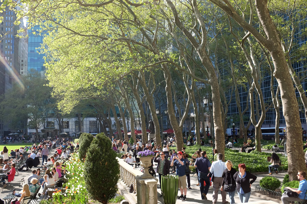 Bryant Park NYC in the Spring